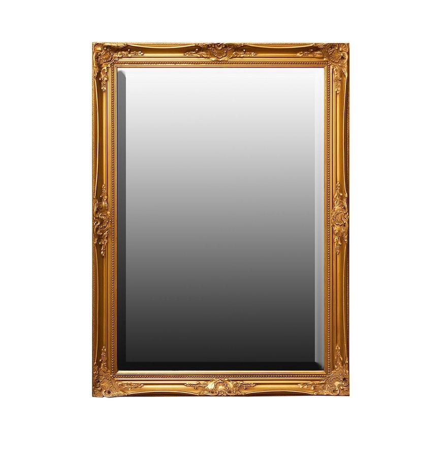 Contemporary Gold Toned Wall Mirror Ebth
