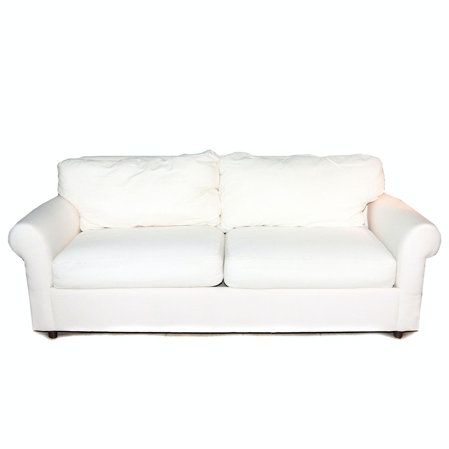 Hm Richards White Canvas Sofa