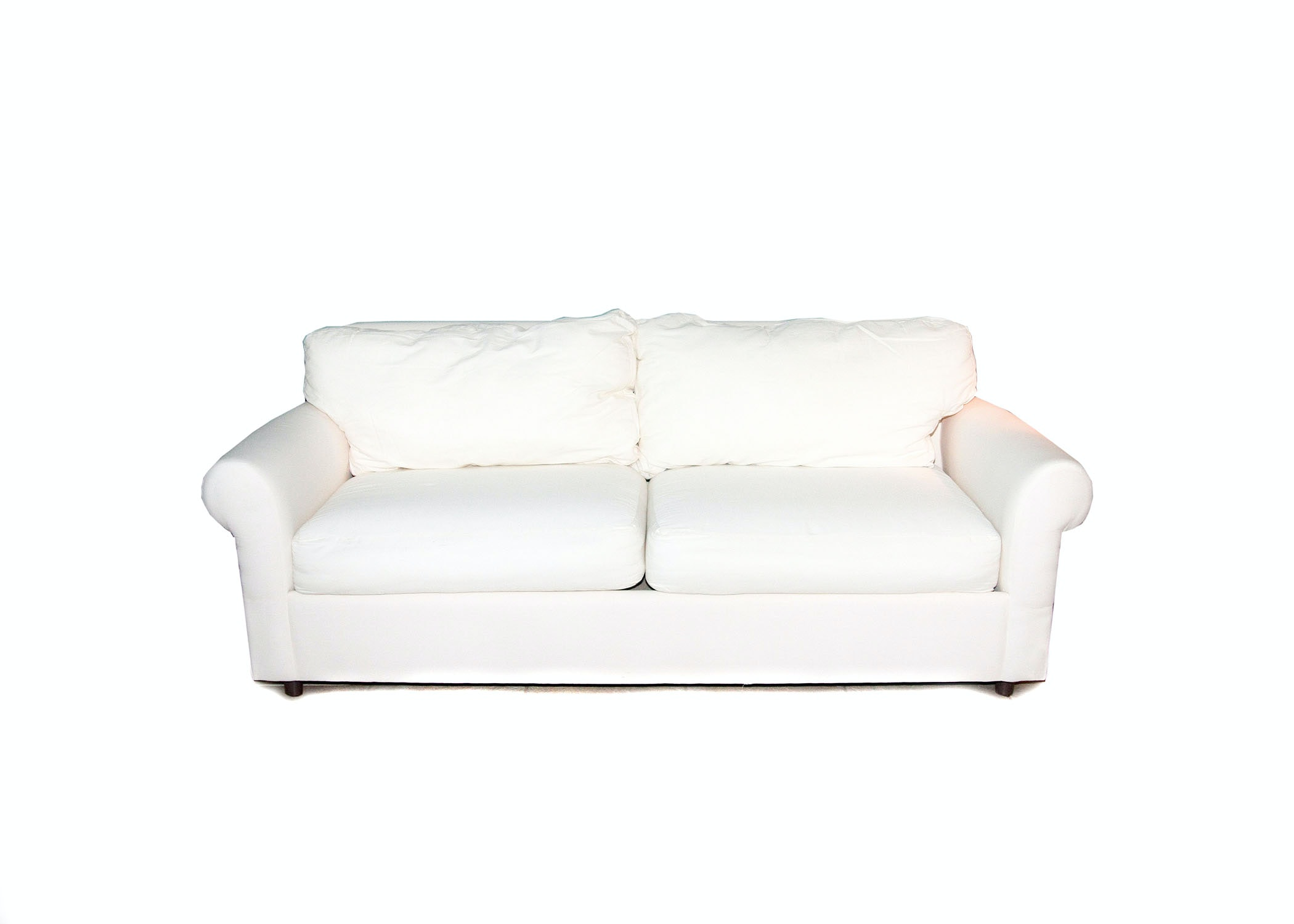 HM RIchards White Canvas Sofa ...