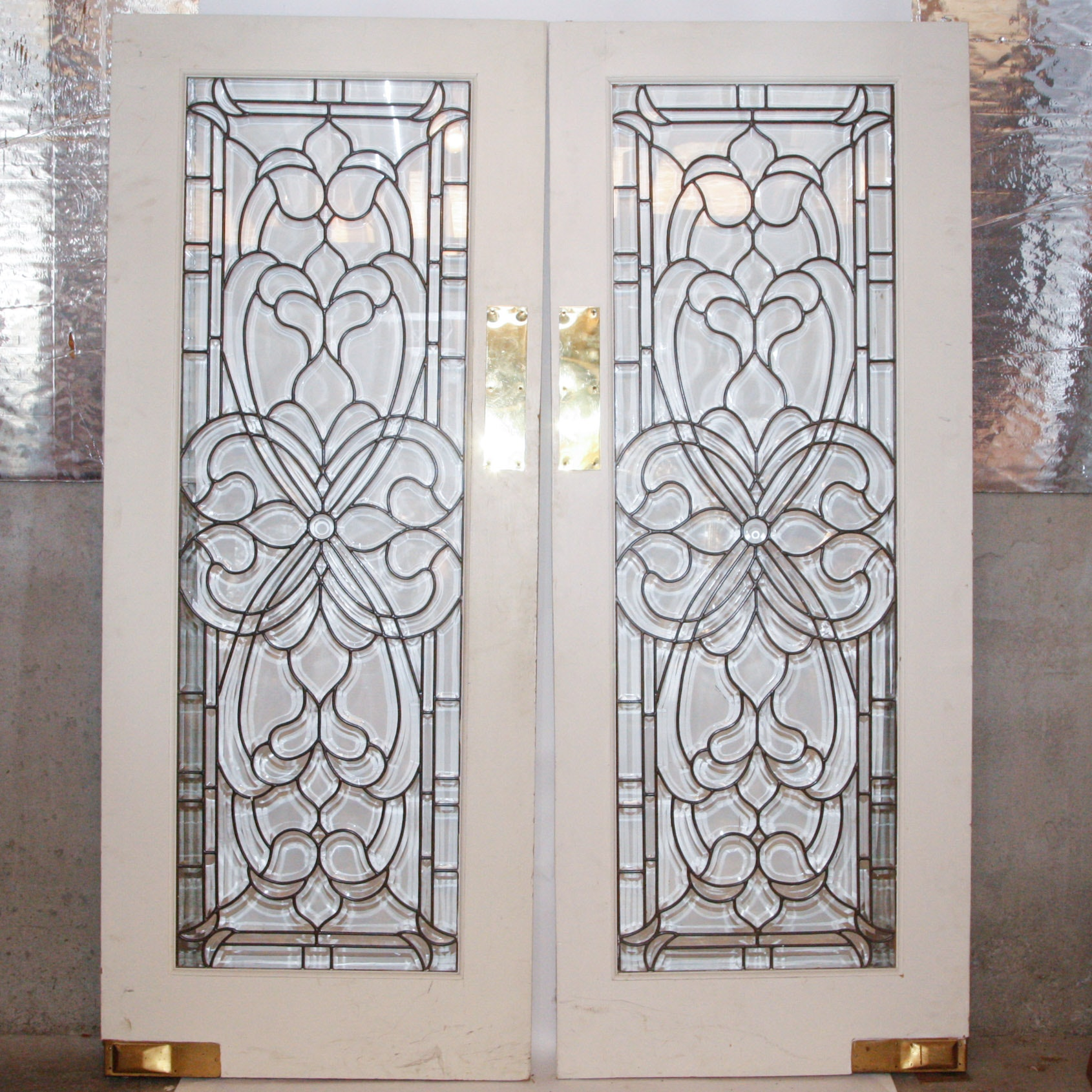 Pair Of Beveled Glass Front Doors ...