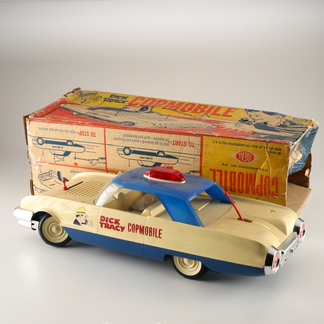 Dick Tracy Copmobile Plastic Police Car : EBTH