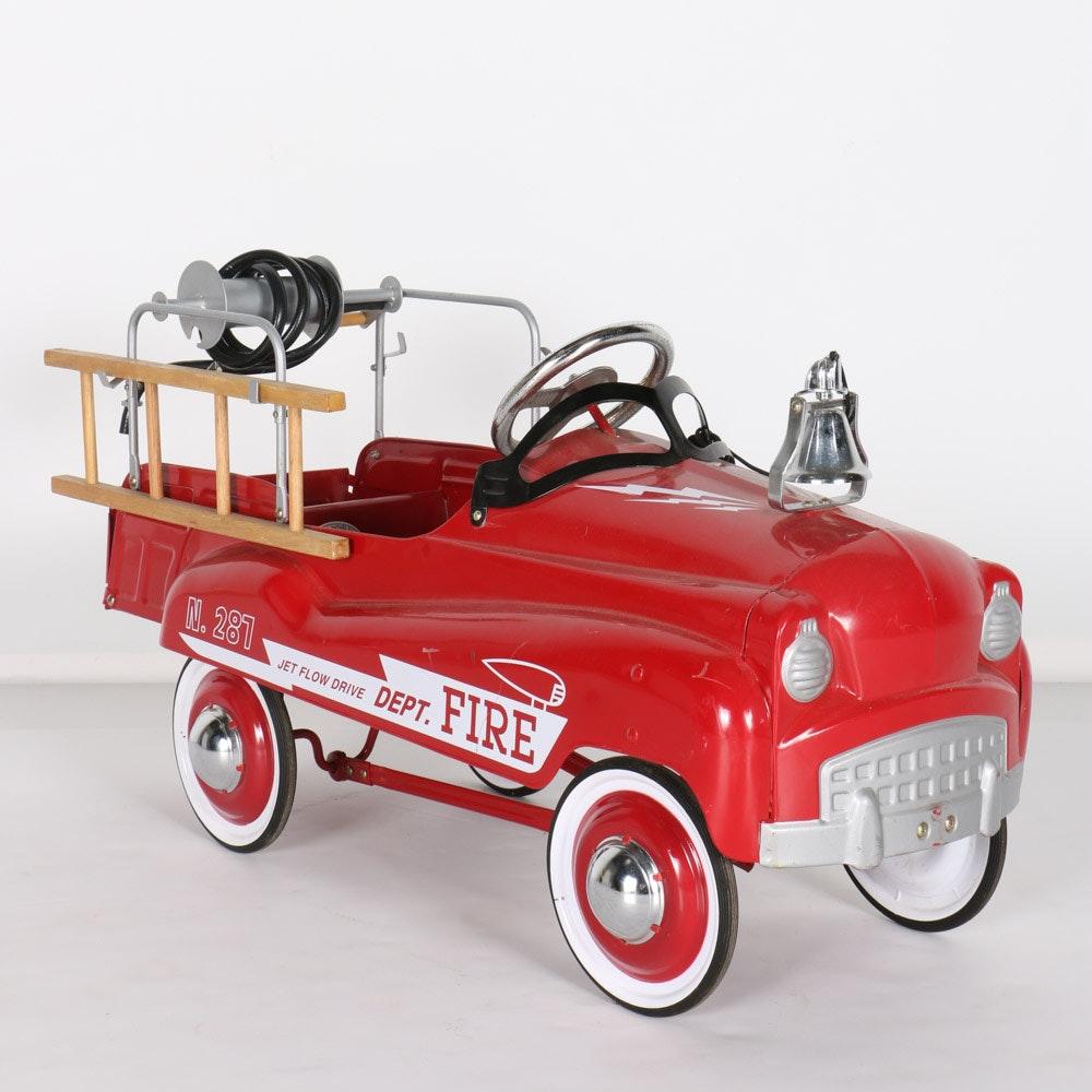 Burns Novelty Fire Truck Pedal Car Ebth