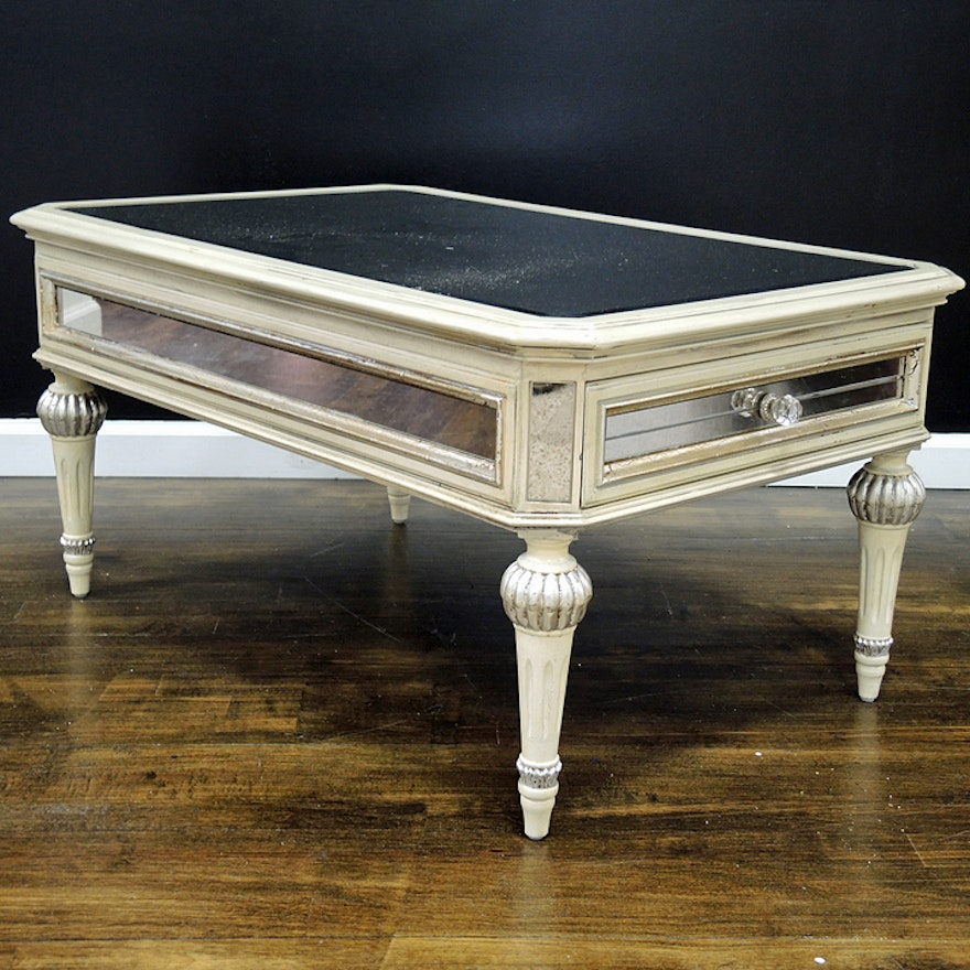 Dresden Mirrored Coffee Table With Two Drawers