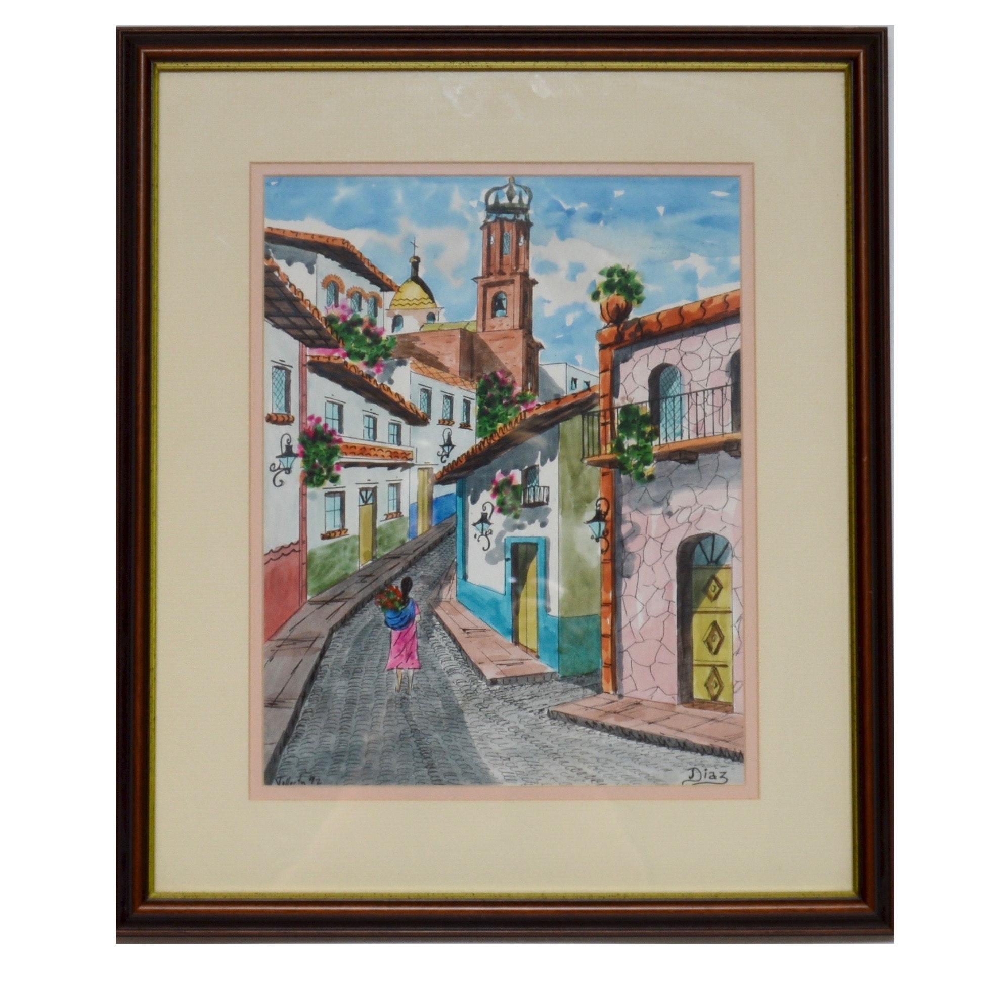 Diaz Original Watercolor