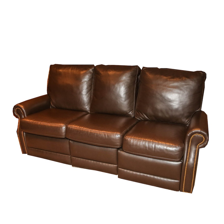 Leather Three-Piece Sectional Sofa By Distinction Leather