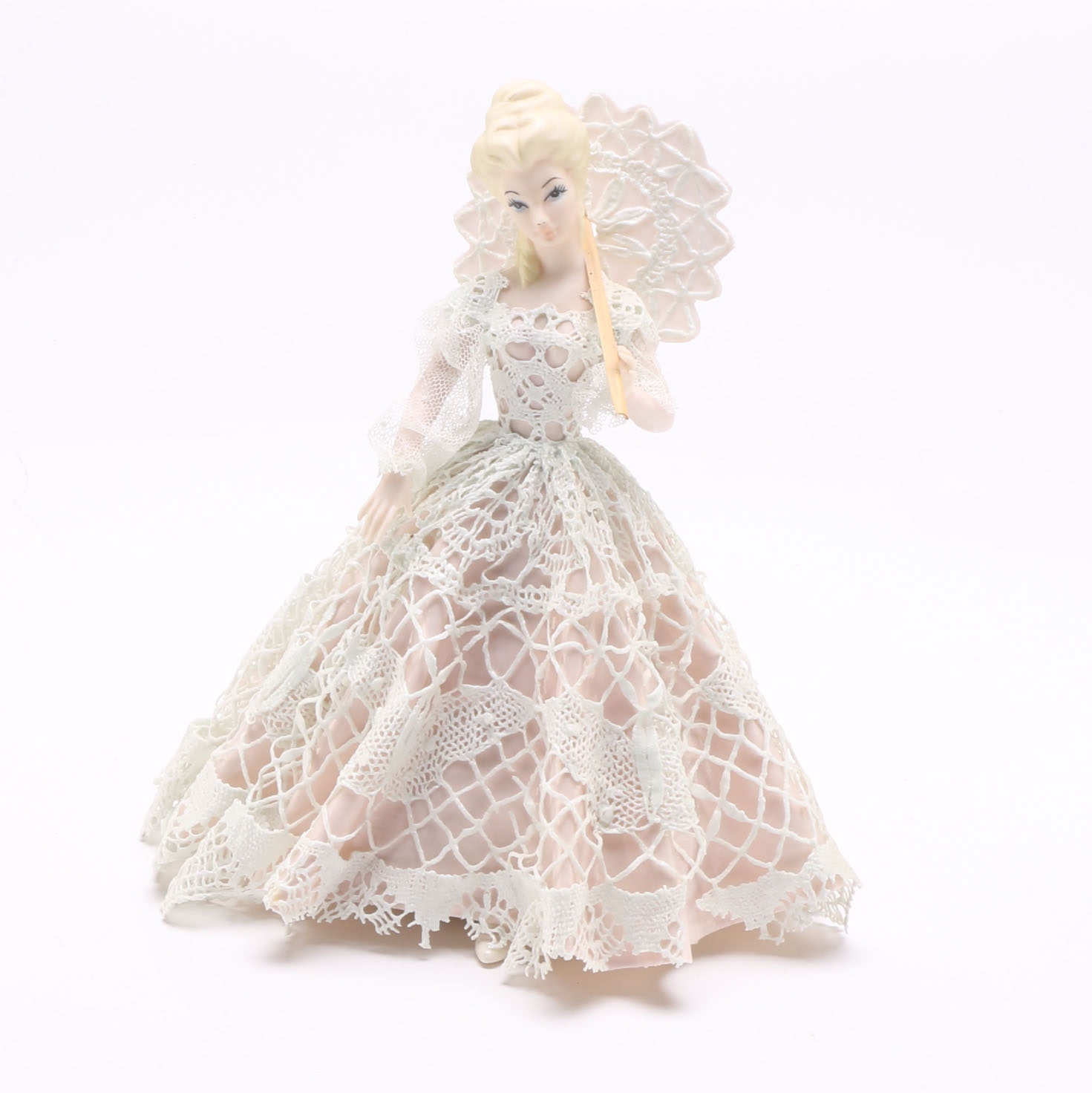 Ceramic Doll of Woman in Dress