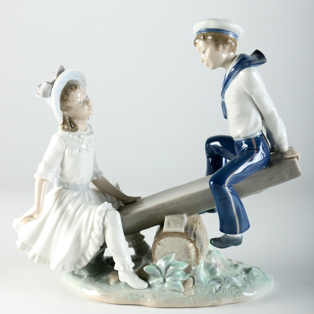 Lladro Figurine of Children on a SeeSaw