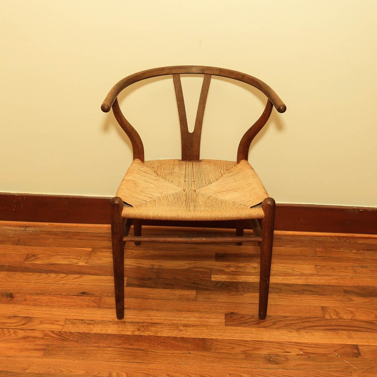 Danish Modern Hans Wegner Wishbone Chair By Carl Hansen U0026 Son