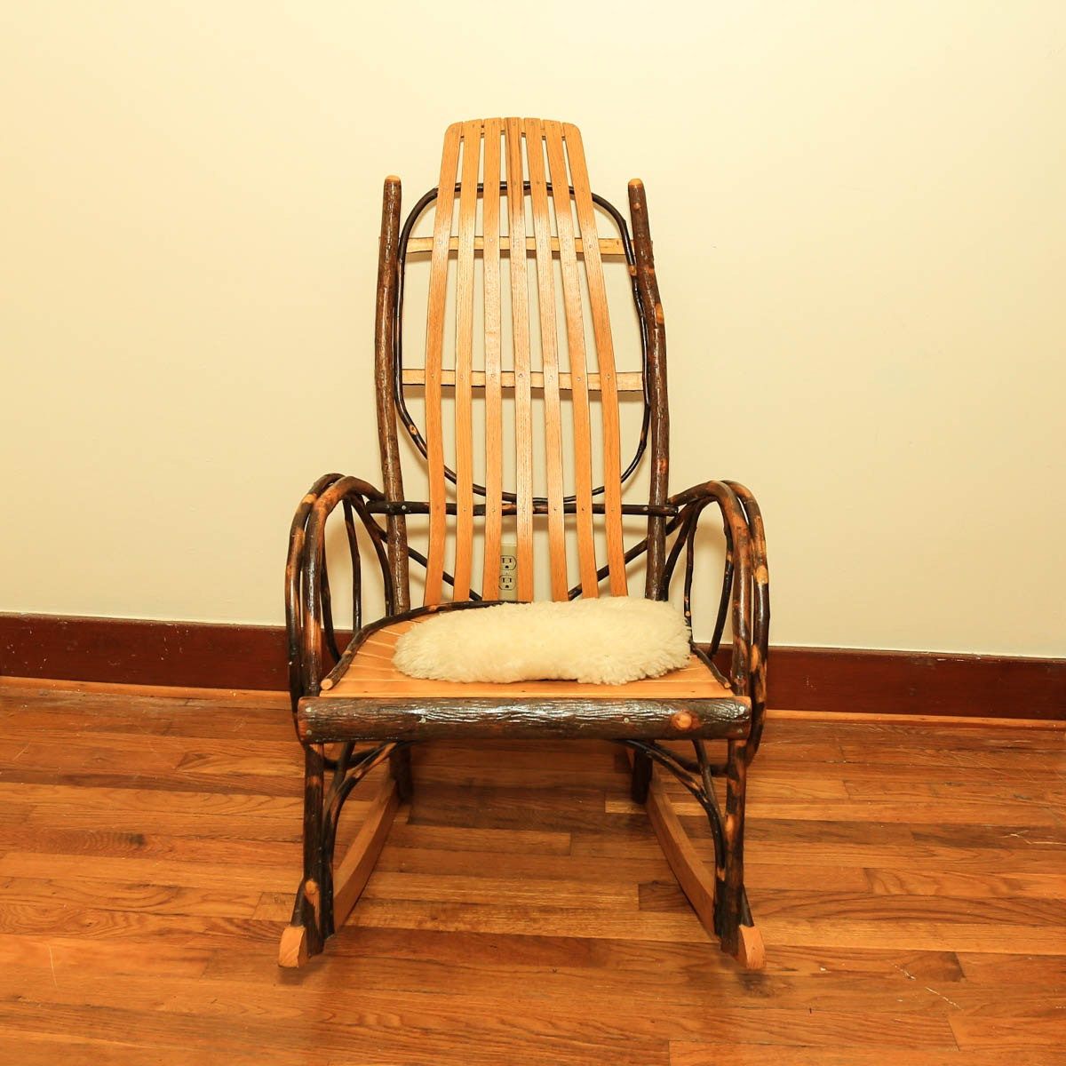 20th Century Adirondack Style Bent Twig Rocking Chair ...