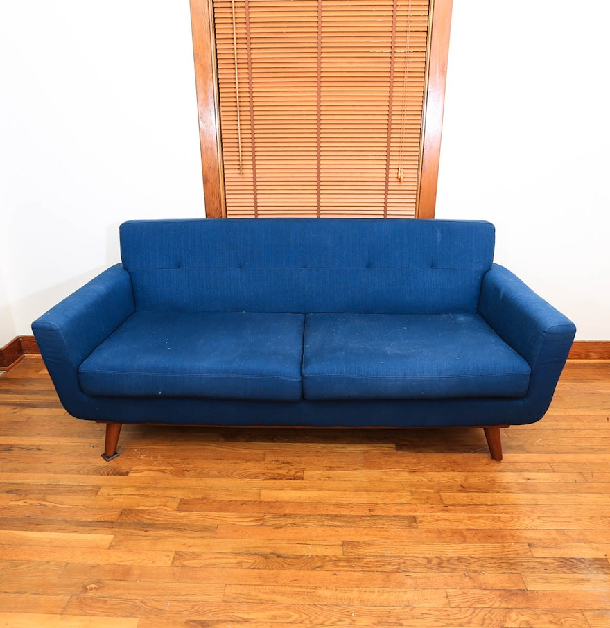 Mid century modern upholstered sofa ebth for Mid century modern upholstered chair