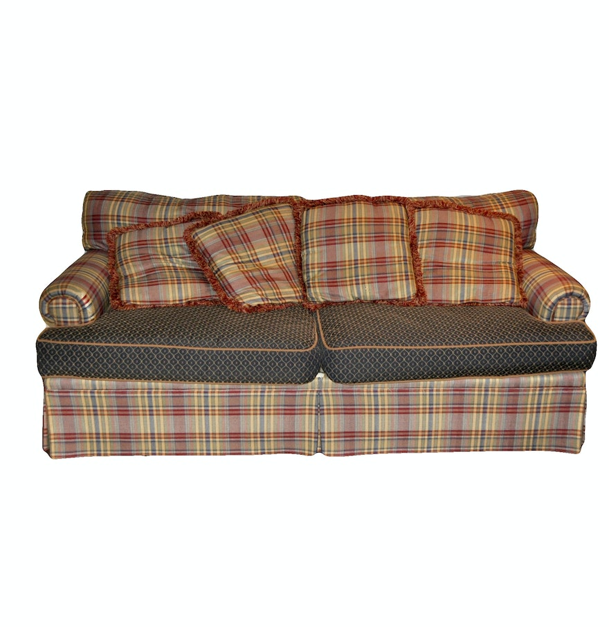 A Henredon Plaid Pattern Sofa Ebth