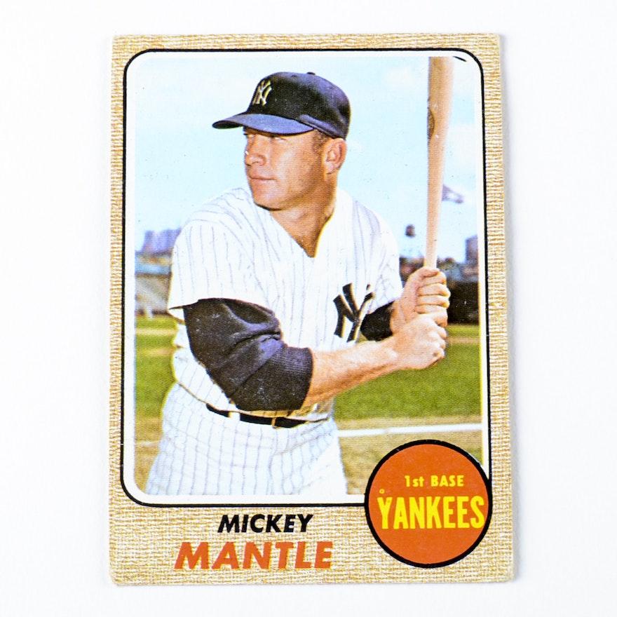 1968 Mickey Mantle New York Yankees Topps 280 Baseball Card