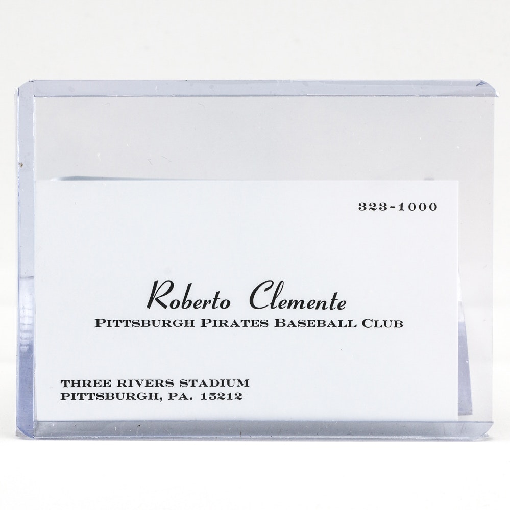 Roberto Clemente Business Card