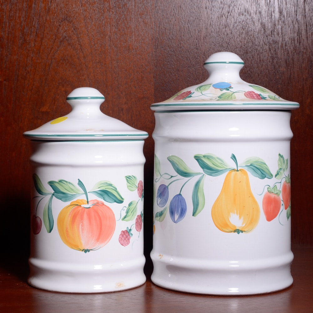 Herend Village Pottery Kitchen Canisters ...