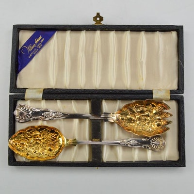 William Adams Sheffield Serving Set in Original Presentation Box