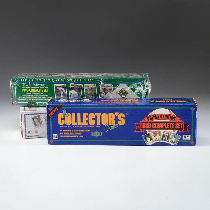 Upper Deck Baseball Cards Complete Sets 1989 1990 1991
