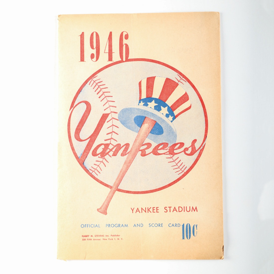 1946 Yankees Official Program with Joe DiMaggio on the Roster