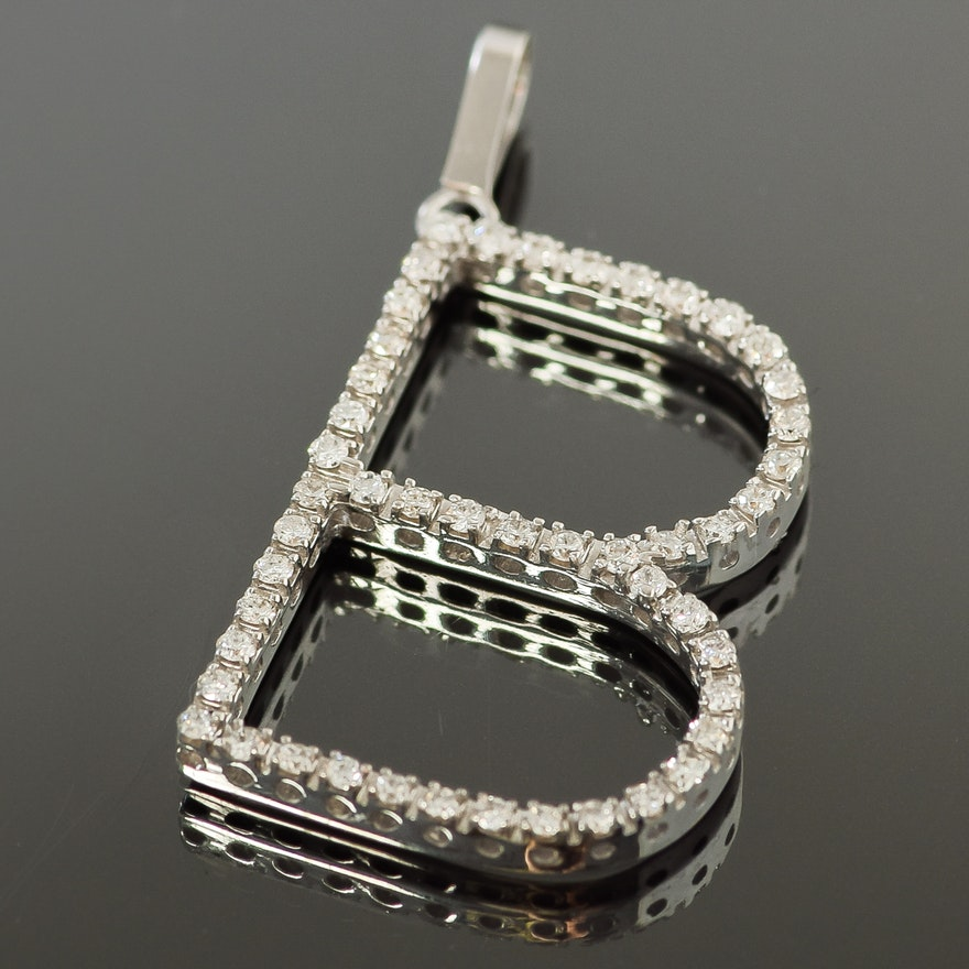 pendant charm karat b and vintage or diamond pin pendants