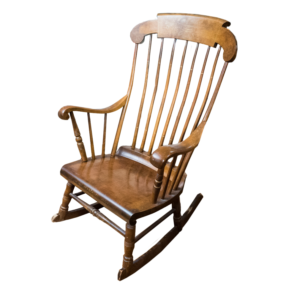 s bent   brothers maple windsor rocking chair ebth