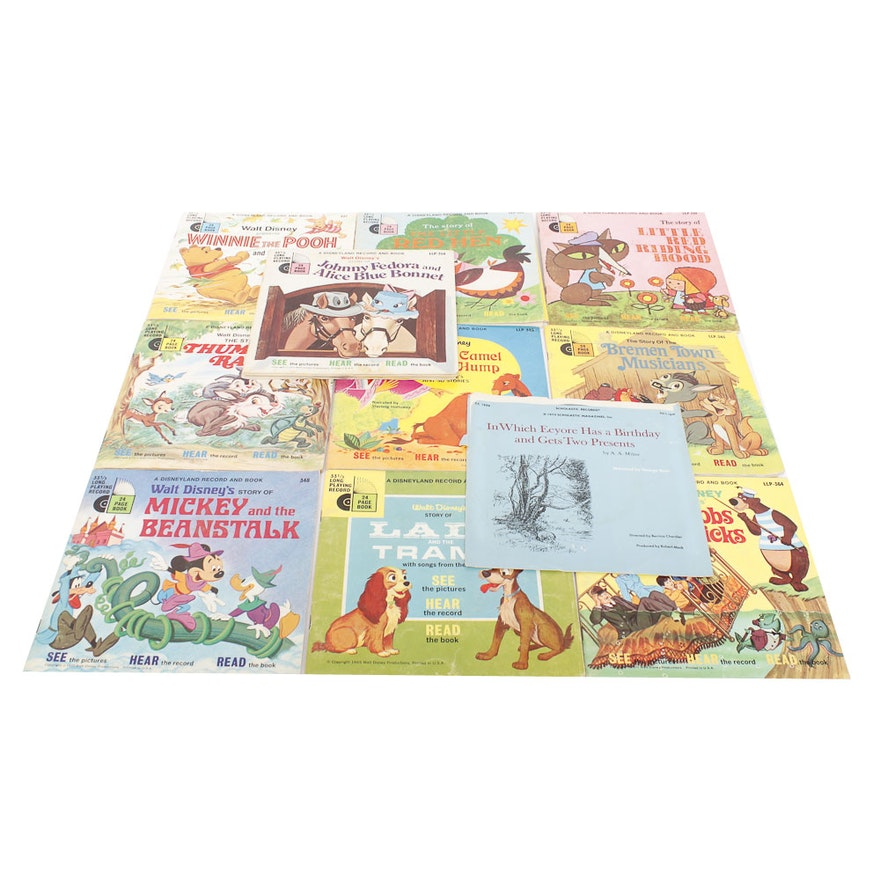 Assortment of Disney Record Books