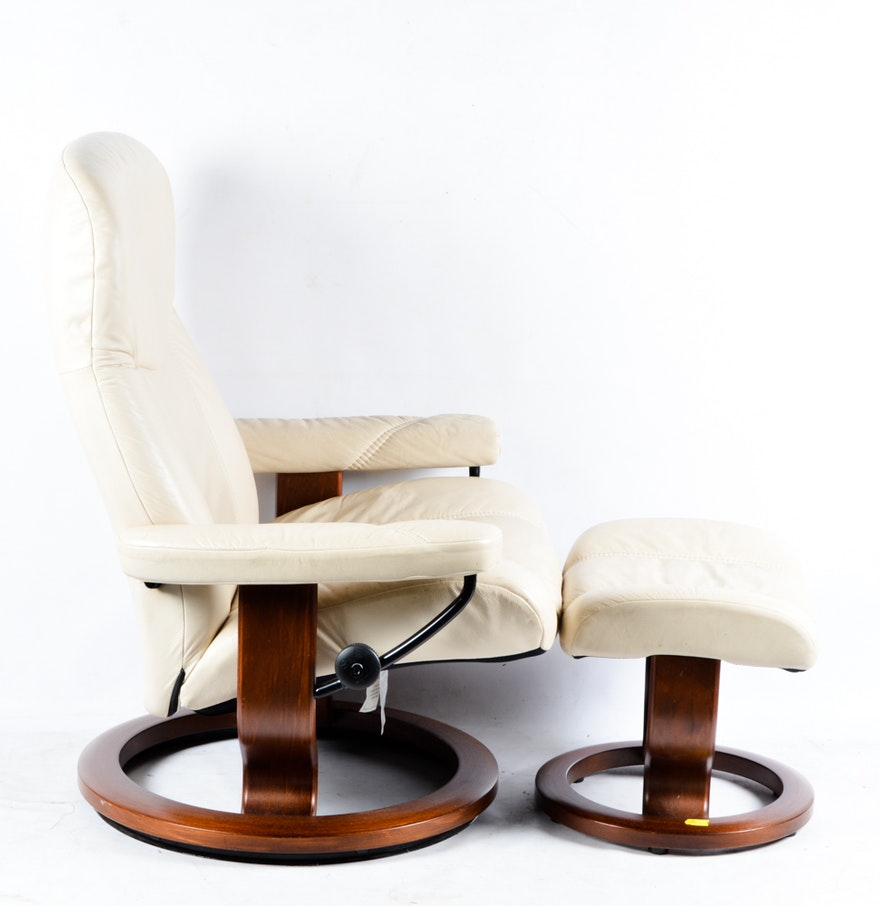 Ekornes Stressless Leather Chair And Ottoman EBTH