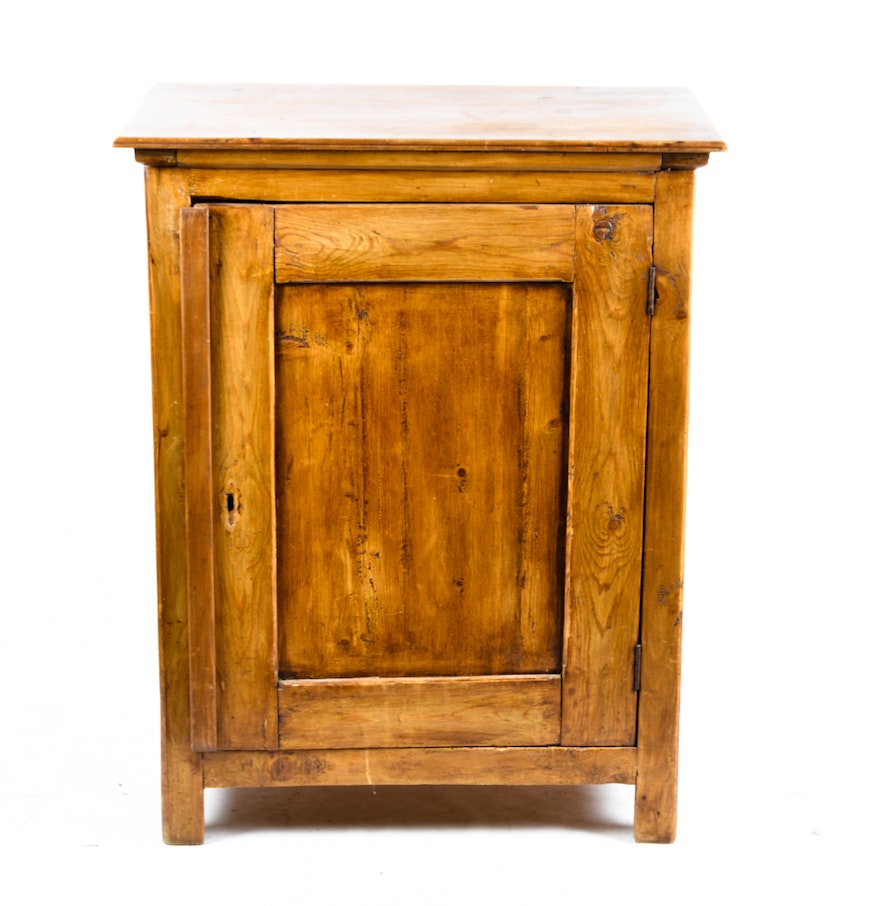 Rustic Knotty Pine Cabinet Ebth