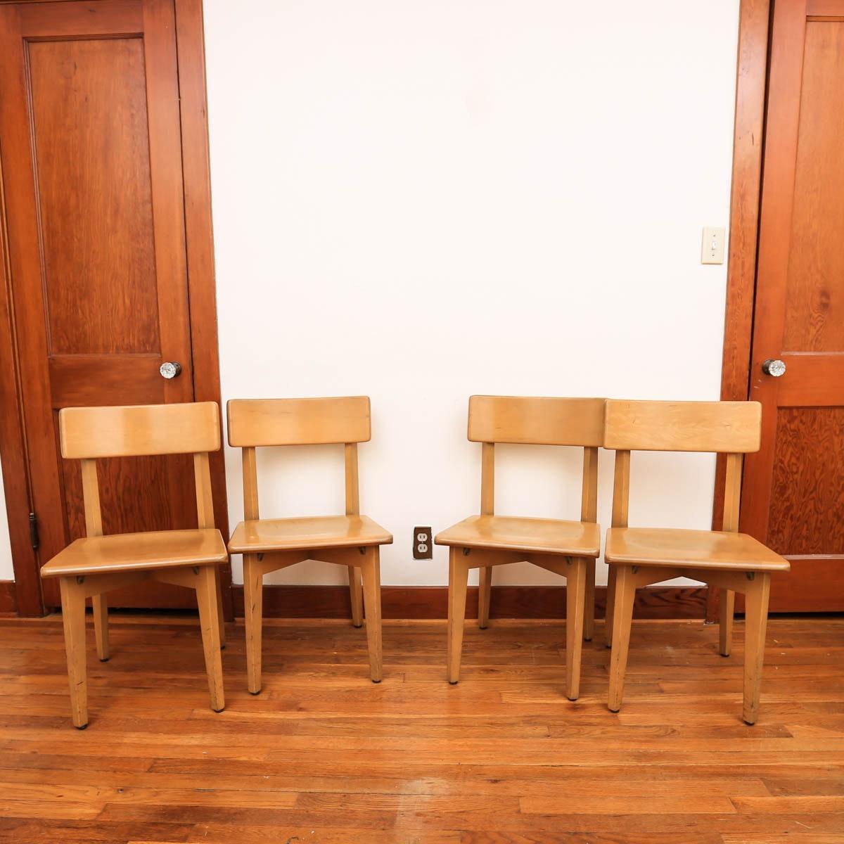 Mid Century Modern Side Chairs by W.H. Gunlocke Chair Co.