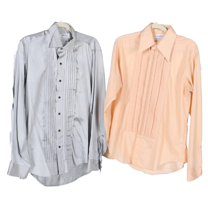 b142d765 Pair of Men's Vintage Tuxedo Shirts : EBTH