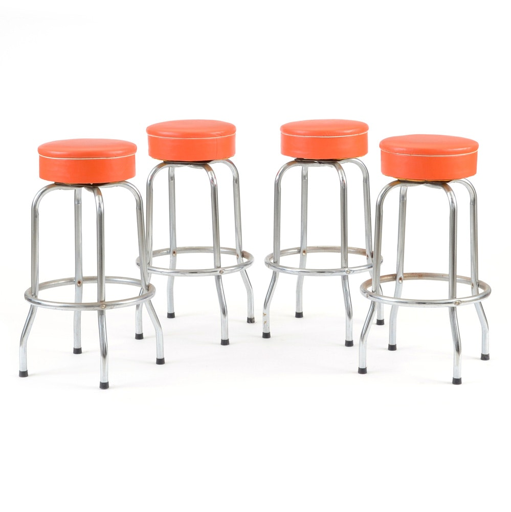 Set of Four Orange Vinyl Upholstered Swivel Bar Stools EBTH : JJM9471jpgixlibrb 11 from www.ebth.com size 999 x 1000 jpeg 77kB