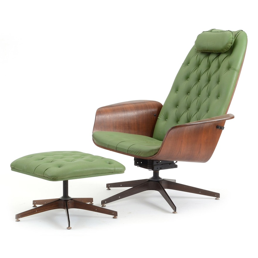 Miraculous Mid Century Modern Plywood Lounge Chair And Ottoman Andrewgaddart Wooden Chair Designs For Living Room Andrewgaddartcom