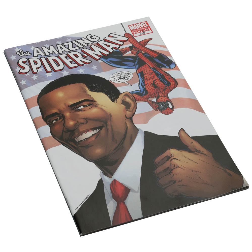 """""""The Amazing Spider Man"""" Number 583 Featuring President Obama"""