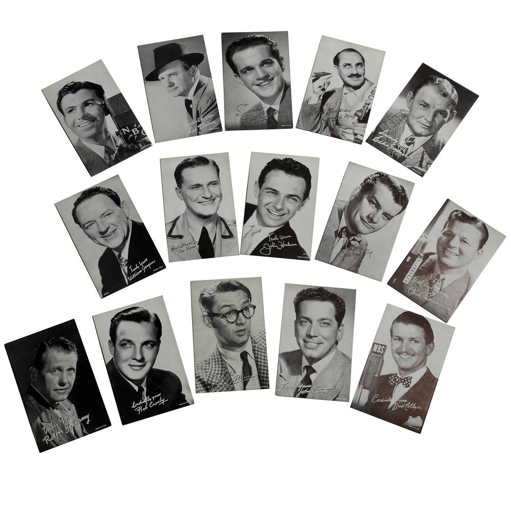 Vintage Early Actor Penny Arcade Cards