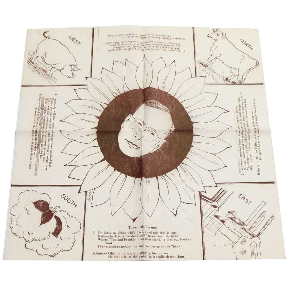 1936 Alf Landon Paper Napkin