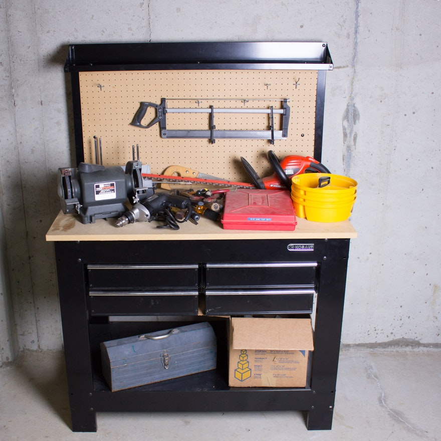 Terrific Kobalt Work Bench With Tools Spiritservingveterans Wood Chair Design Ideas Spiritservingveteransorg