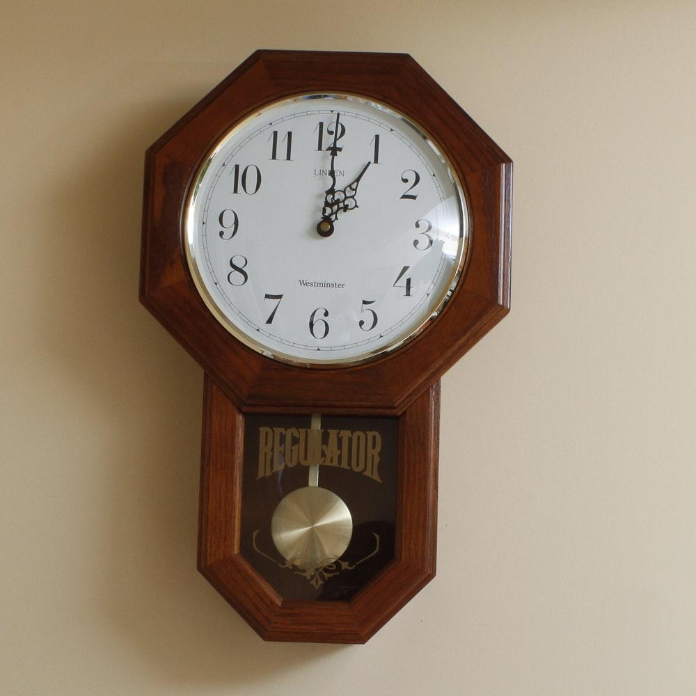 Linden Westminster Regulator Wall Clock Ebth