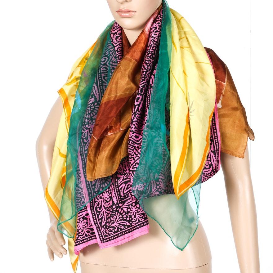 6d1eb9bc1966 Multicolored Scarves   EBTH