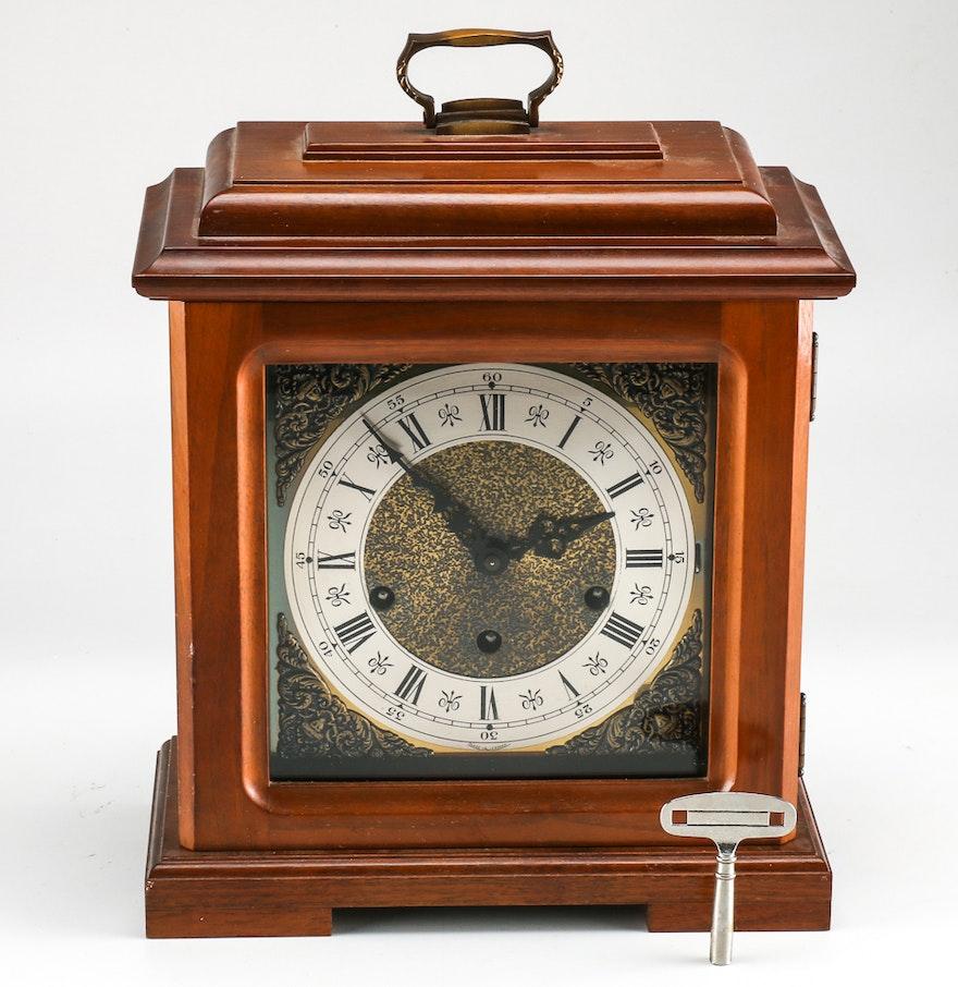 Circa 1990 urgos keywound mantel clock with westminster chime ebth circa 1990 urgos keywound mantel clock with westminster chime amipublicfo Choice Image