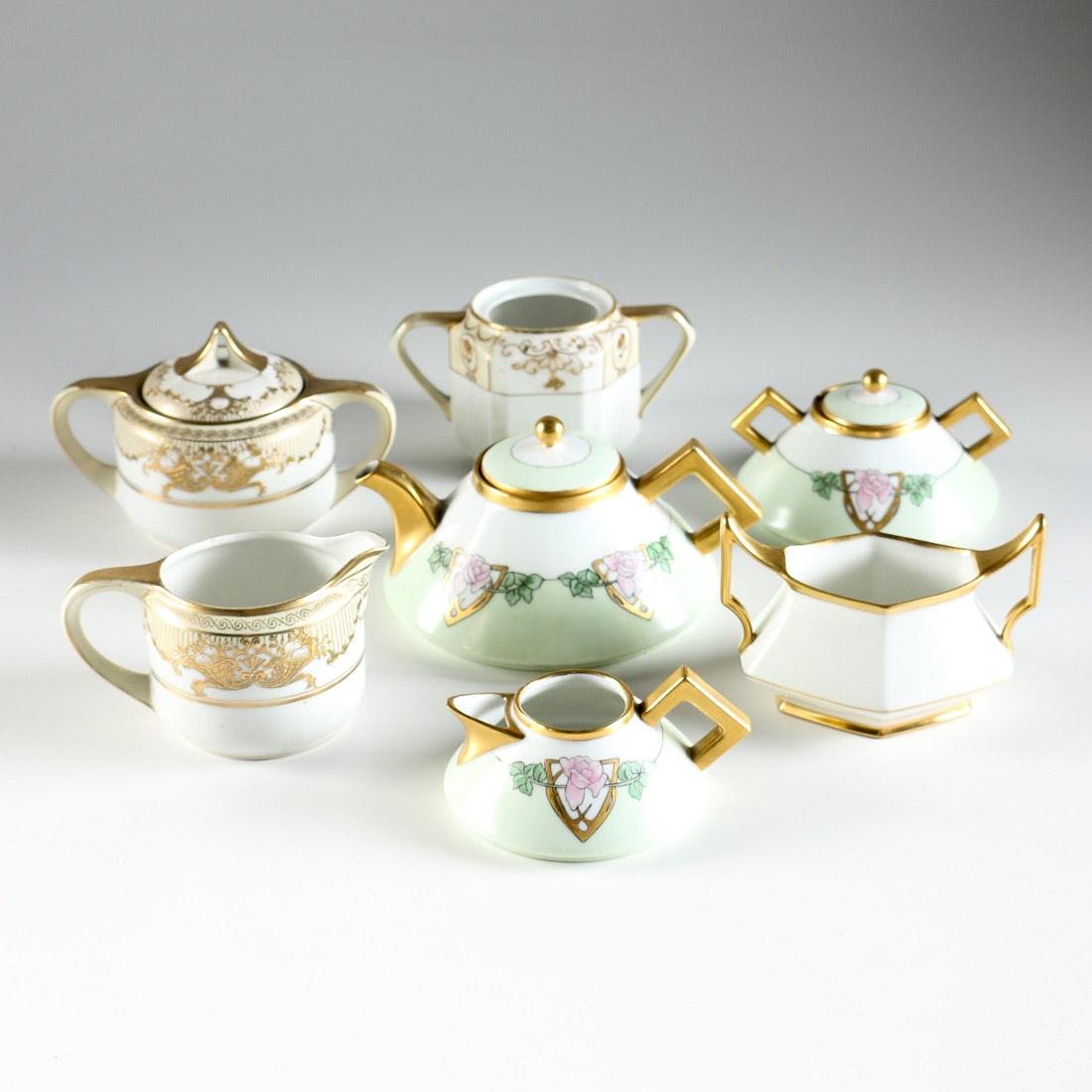 Gold Toned Porcelain Teaware