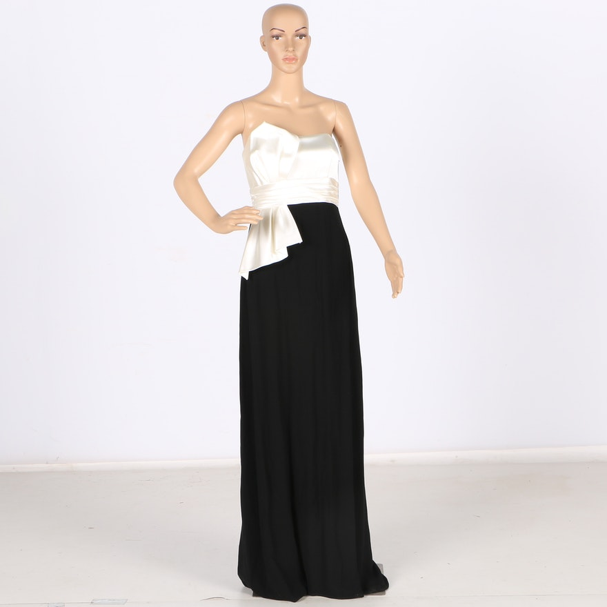David Meister Black and White Gown : EBTH