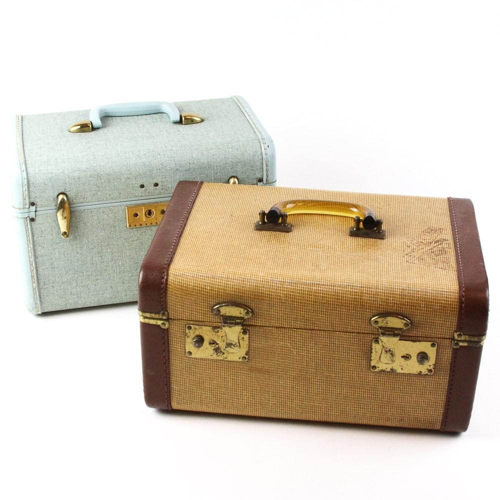 Pair of Vintage Train Cases