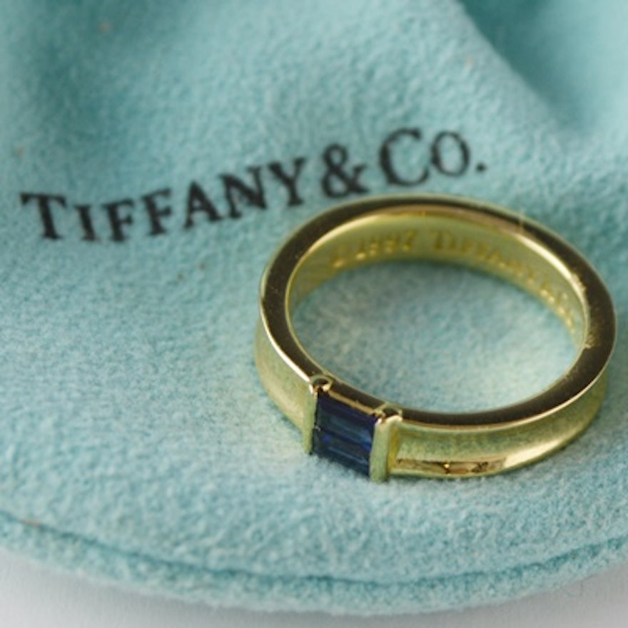 fd72ad5a2 Tiffany & Co. 18K Yellow Gold Blue Sapphire Ring | EBTH