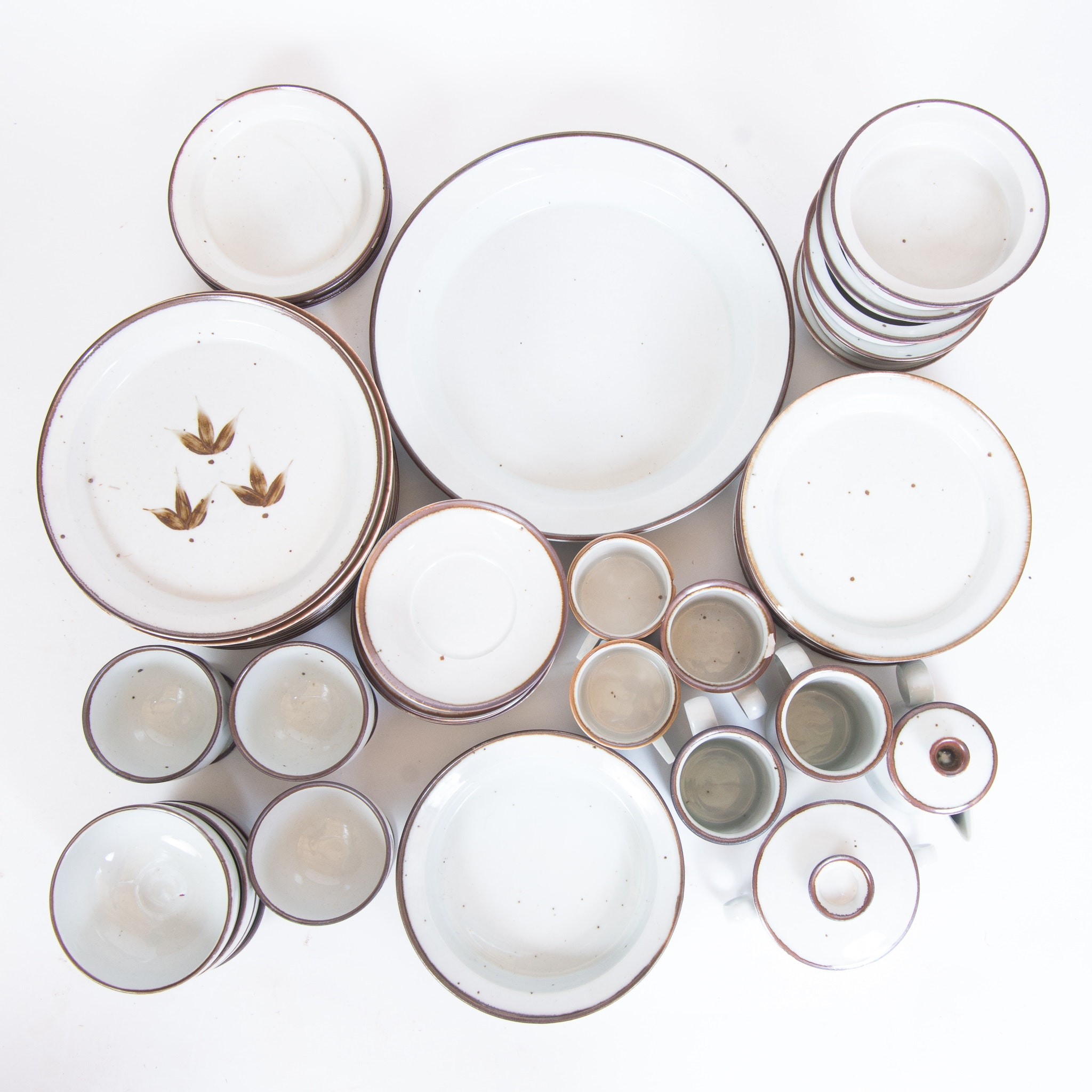 1950s Dansk \ Brown Mist\  Tableware Assortment ...  sc 1 st  EBTH.com & 1950s Dansk \