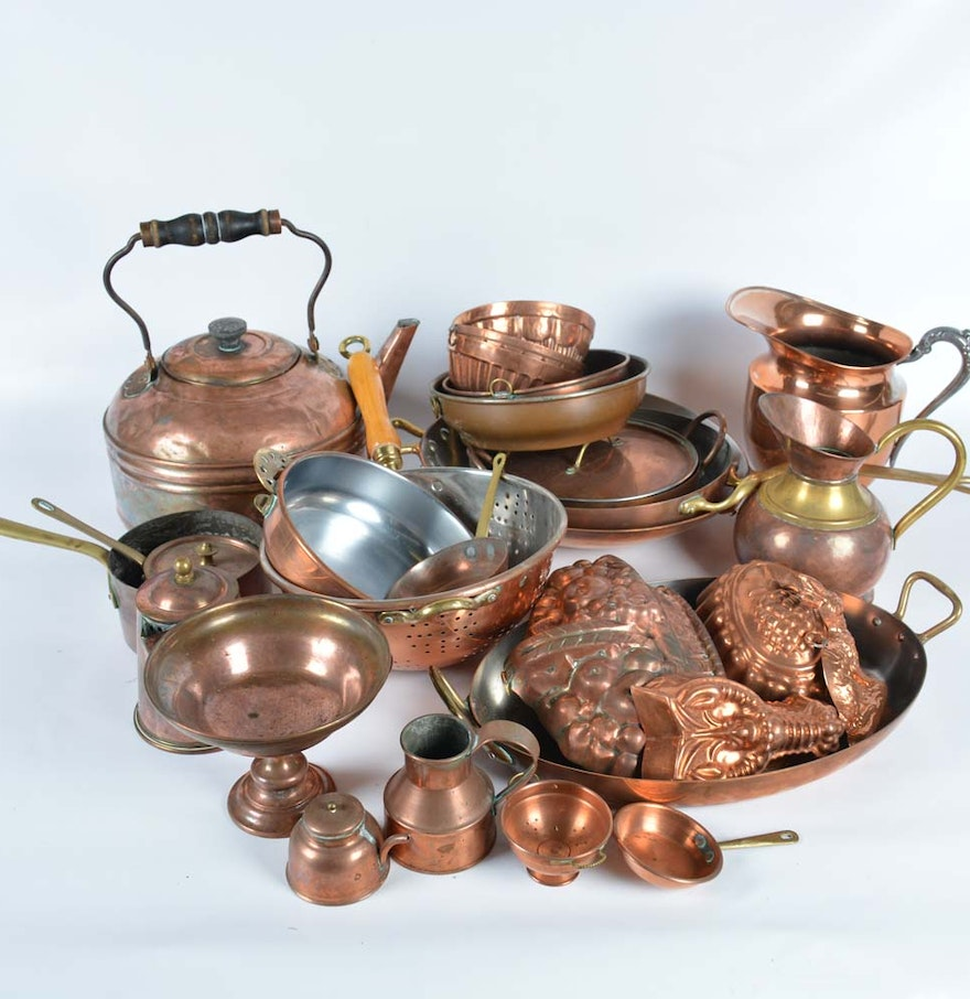 Copper Kitchen Items .