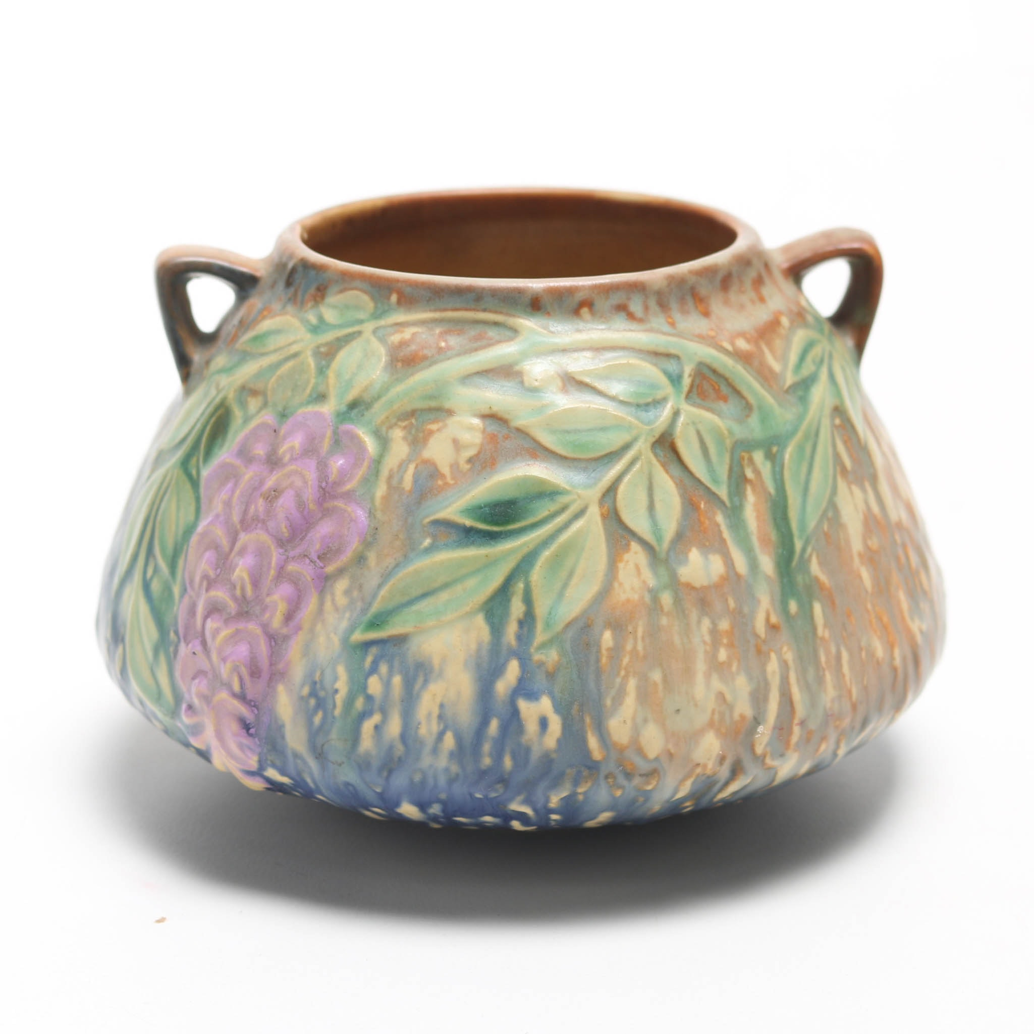 """Roseville """"Wisteria"""" Bowl with Handles"""