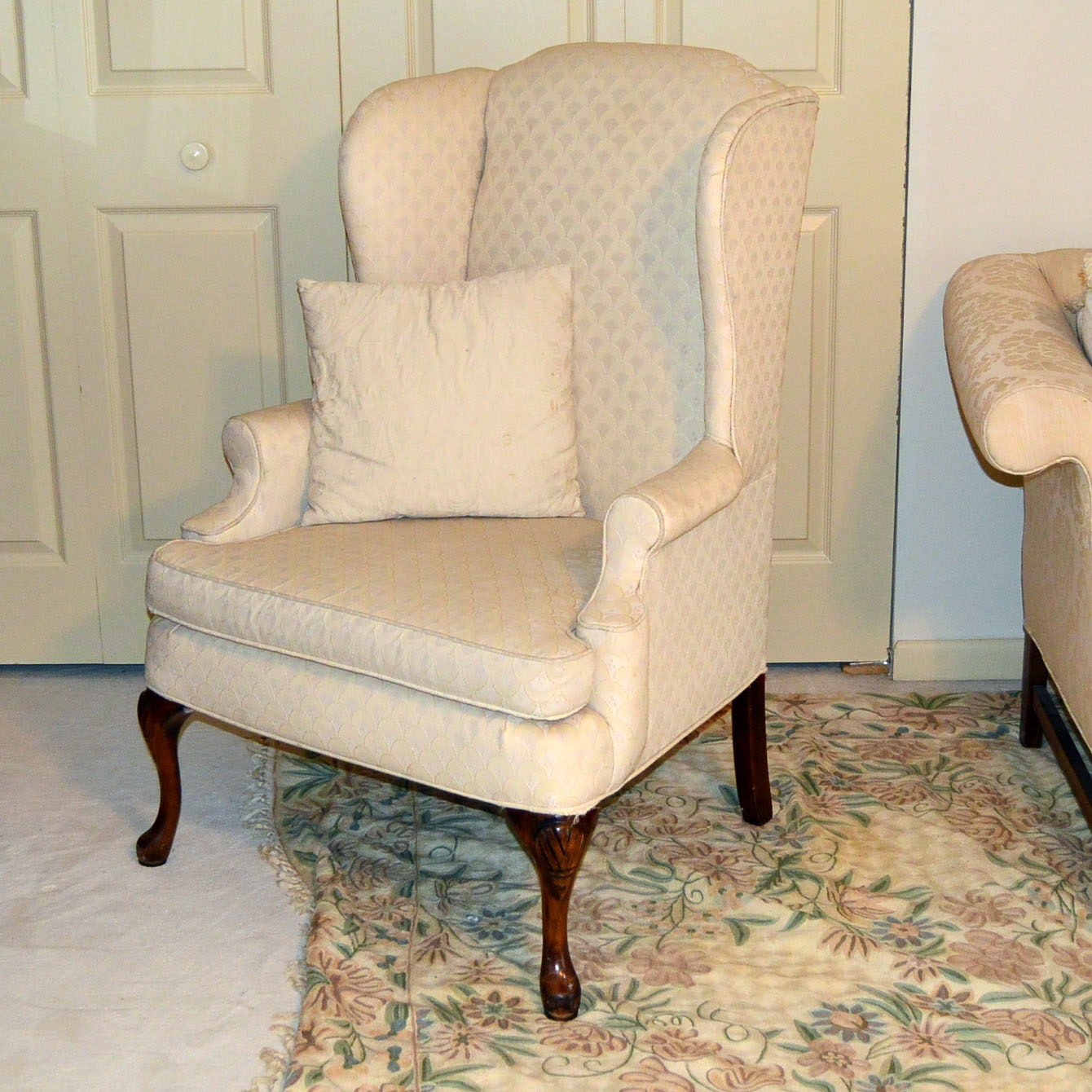 southern furniture co queen anne wingback chair