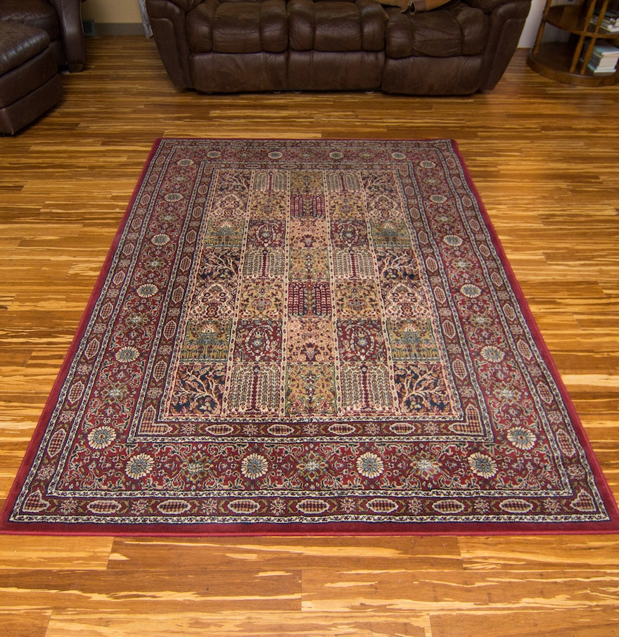 Egyptian Made Valby Ruta Synthetic Fiber Area Rug By