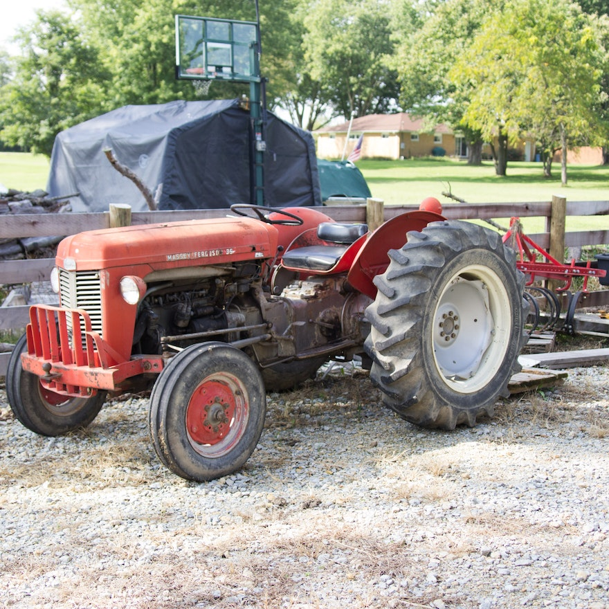 1960 Massey Ferguson TO-35 Tractor with Accessories