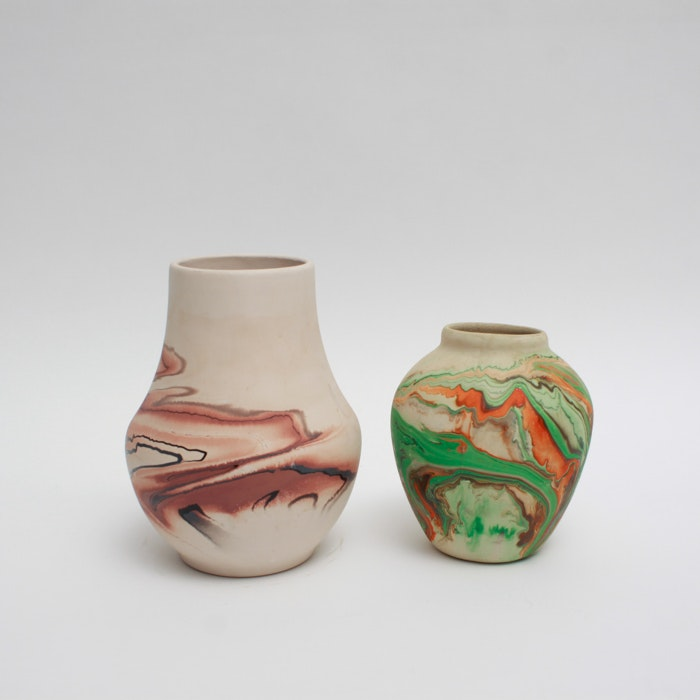Pair of Nemadji Pottery Vases