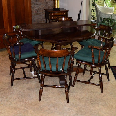 Hitchcock Chair Company Colonial Dining Table And Chairs