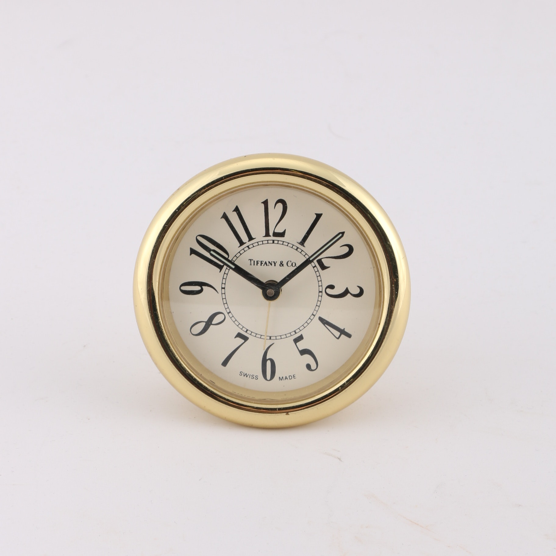 Circa 1980s Tiffany Amp Co Brass Alarm Clock Ebth
